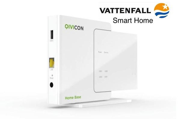 Bild Homebse© Qivicon/ Telekom, Logo© Vattenfall