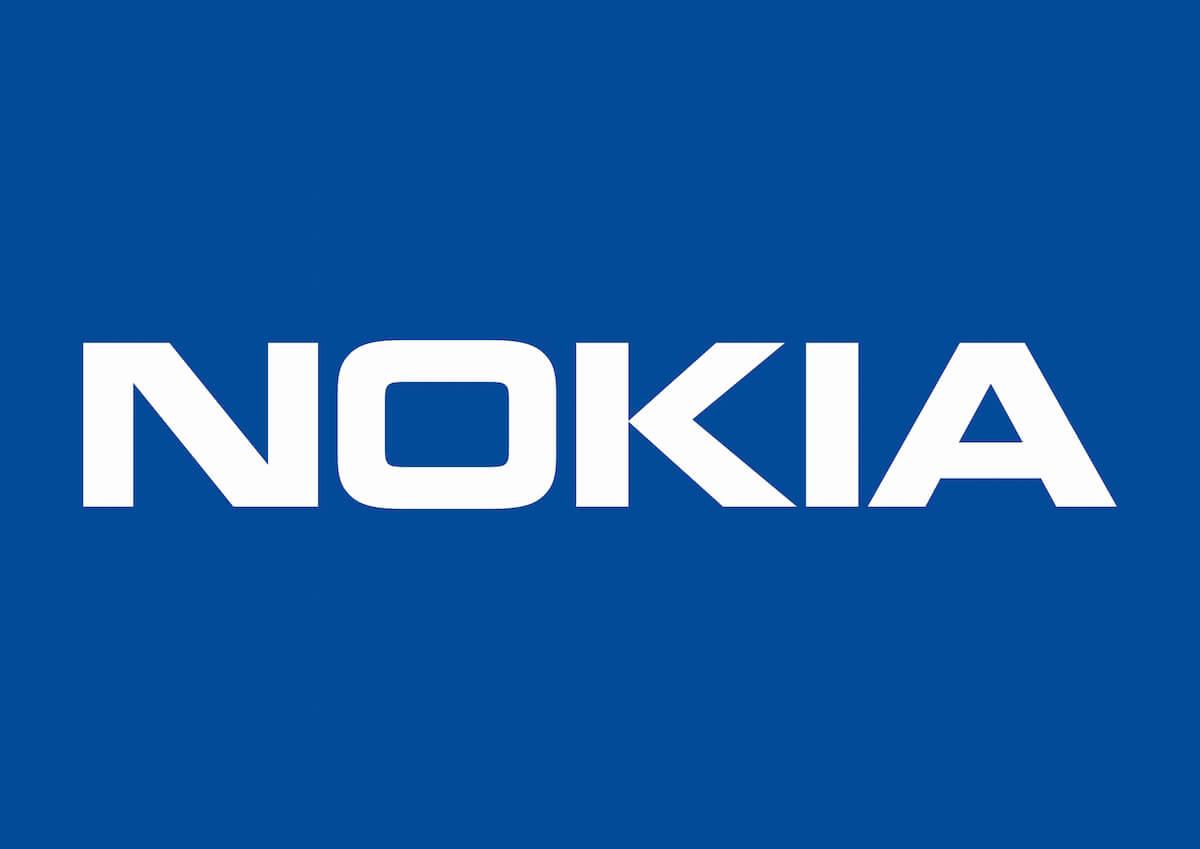 Nokia Logo auf blau