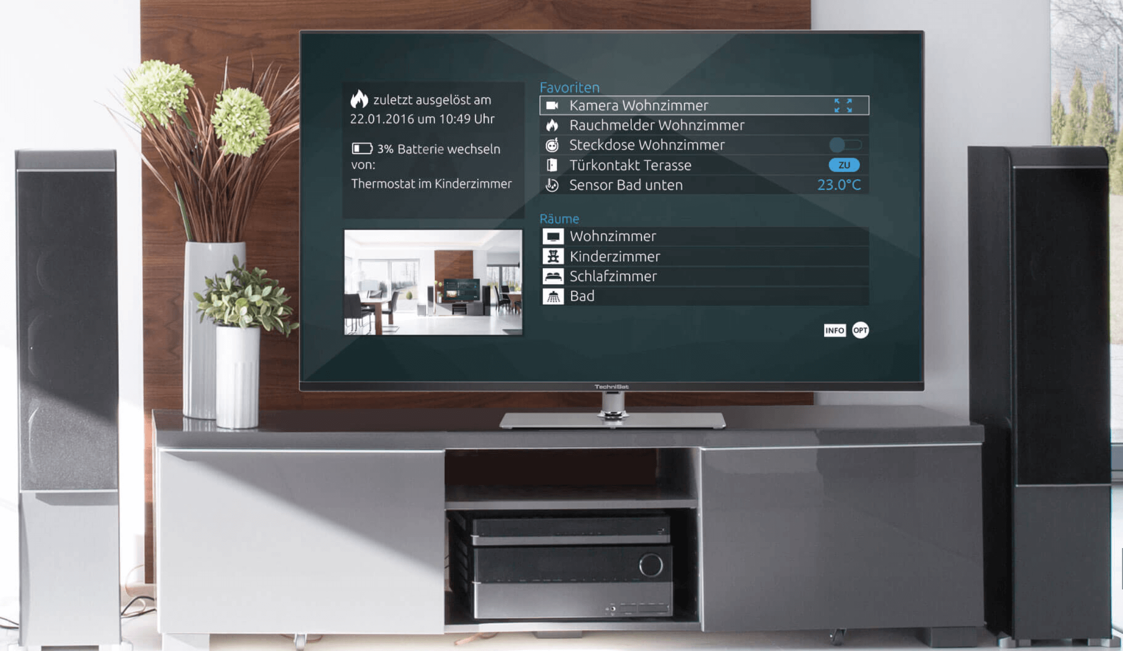 Technisat Smart Home auf Smart TV
