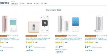 Netatmo-Produkte heute bei Amazon deutlich günstiger