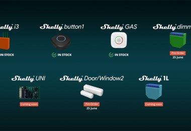 Shelly veröffentlicht neue Wi-Fi-Aktoren und -Sensoren