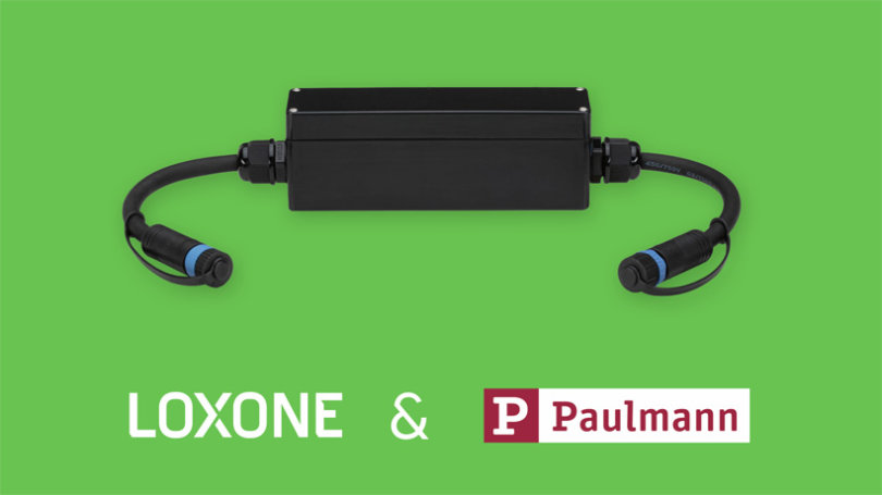 Loxone Plug & Shine Connection Box für Paulmann Plug & Shine Gartenbeleuchtung