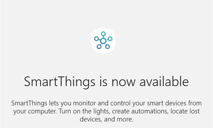 Samsung SmartThings wohl bald auch für Windows-PCs