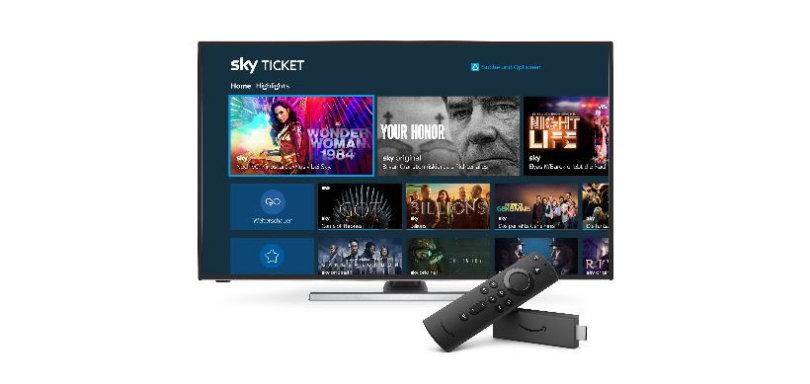 Sky Ticket jetzt auf ausgewählten Fire TV-Geräten verfügbar