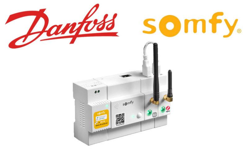 Somfy und Danfoss kooperieren bei Heizungssteuerung